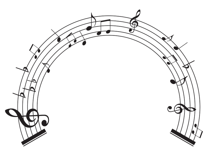music notes. Music notes circle I asked how
